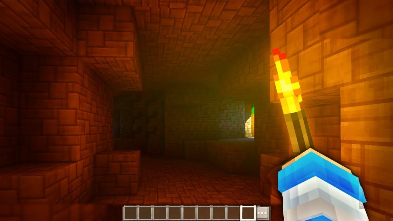 realistic torch in minecraft dynamic lights shaders mcpe no mods
