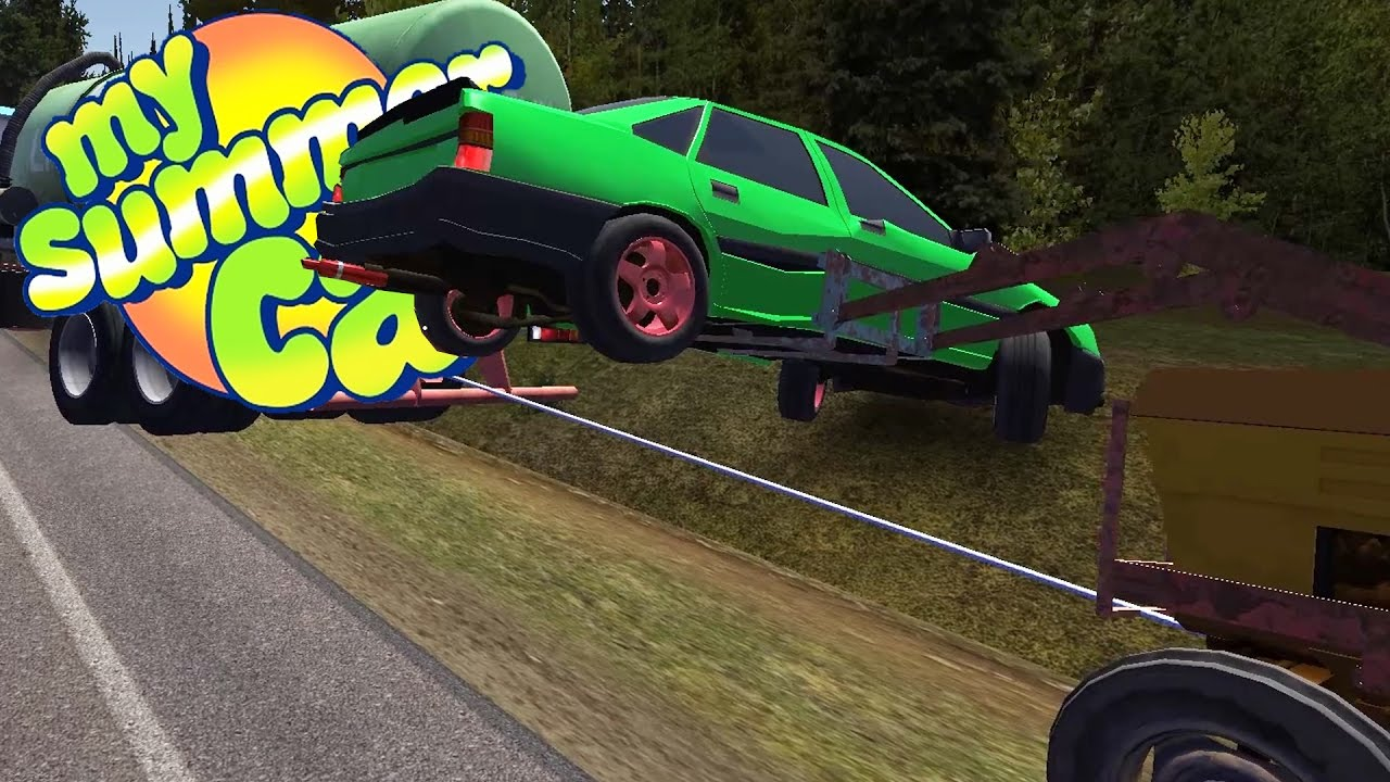TRACTOR TOWING MAYHEM and Crazy Roll Over Crashes - My Summer Car ...