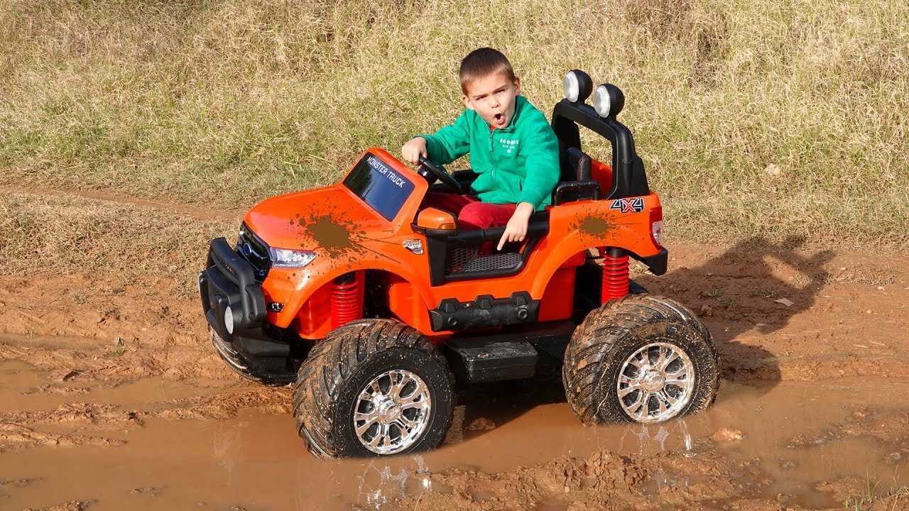 Dima ride on the mud and testing offroad Monster Truck