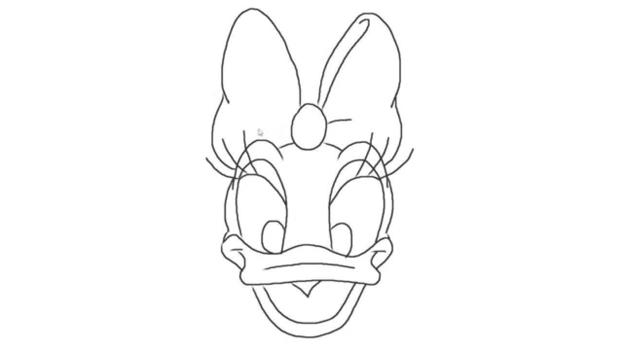 daisy duck bow coloring pages - photo#7