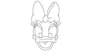 How to draw a Daisy Duck on a minute! [HD]