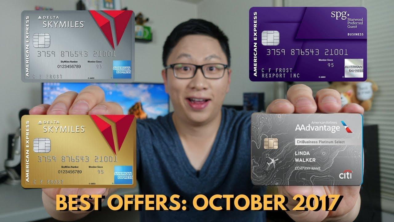 Best Card Offers: October 2017 (Delta 60/70k, Citi AA 60k) - YouTube