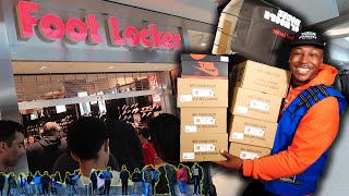 SNEAKER SHOPPING SPREE AT THE MALL! 9 NEW PICKUPS & CAMPOUT FOOTAGE! ALMOST CAUGHT AN L!