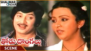 Thodu Dongalu Movie || Krishna Proposing To Madhu Malini || Krishna, Chiranjeevi || Shalimarcinema