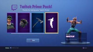 NEW FREE FORTNITE TWITCH PRIME SKIN, EMOTE AND HARVESTING TOOL!