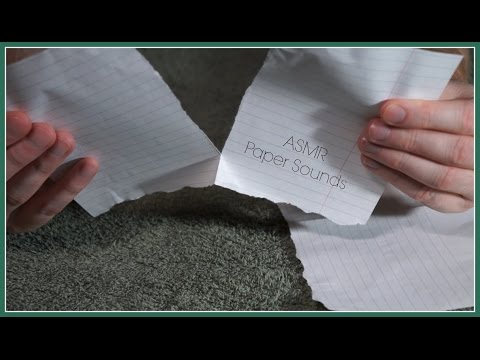 Paper Sounds to trigger your ASMR + ✂️