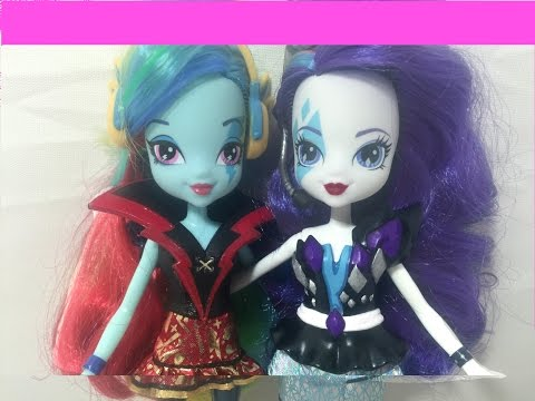 Custom RAINBOW DASH & RARITY Dolls - My Little Pony Equestria Girl Makeovers
