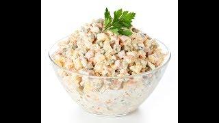 Салат оливье классический праздничный.