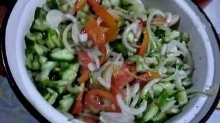 Заготовки.N6.Салат из огурцов и лука на зиму.