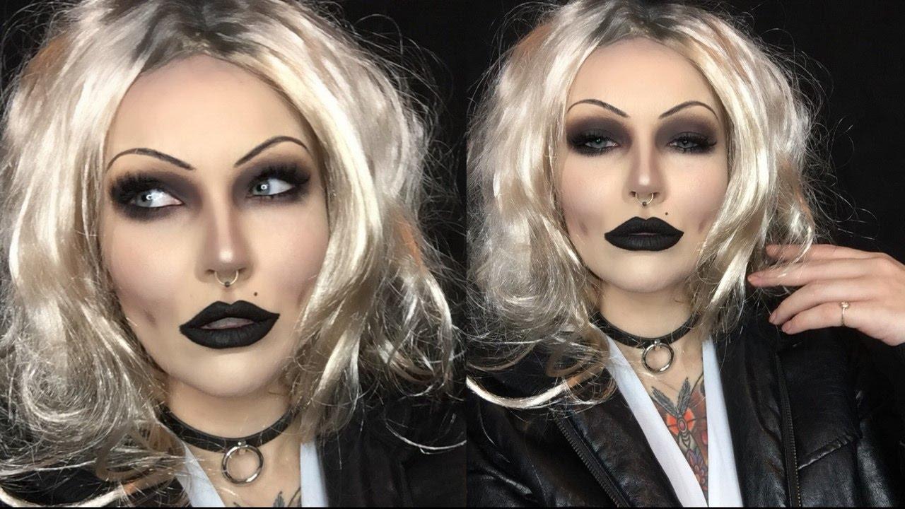 bride of chucky halloween makeup tutorial (pt 1) - youtube