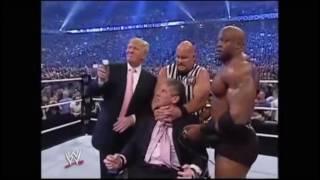 Дональд Трамп побрил миллиардера Винса Макмэна на ринге