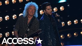 Queen & Adam Lambert Turned The Oscars Into A Full On Rock Show & The Crowd Loved It | Access