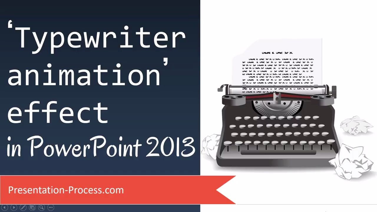 how to create typewriter animation effect in powerpoint