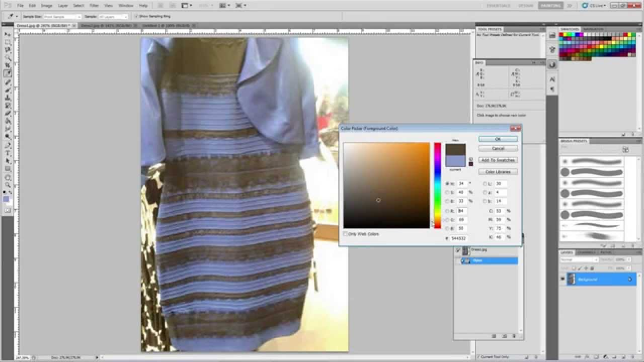 Jurk blauw zwart foto