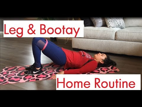 Home Leg  and Bootay Workout   Follow My Routine