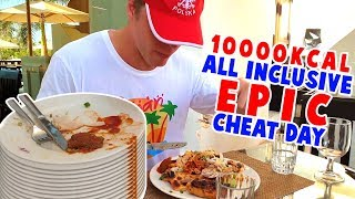 CAŁY DZIEŃ JEDZENIA na ALL INCLUSIVE CHALLENGE (10000KCAL CHEAT DAY) | [Epic Cheat Day]