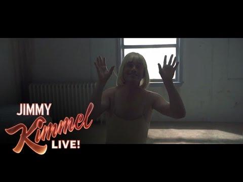 """Jimmy Kimmel & Guillermo Learn Sia's """"Chandelier"""" Dance"""