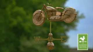 Good Directions 669p Motorcycle Weathervane - Polished Copper
