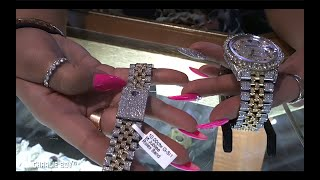 Monica The Jeweler Shows Us How to Spot the Cheaper Rolex & Educates us on Si/i Quality Diamonds