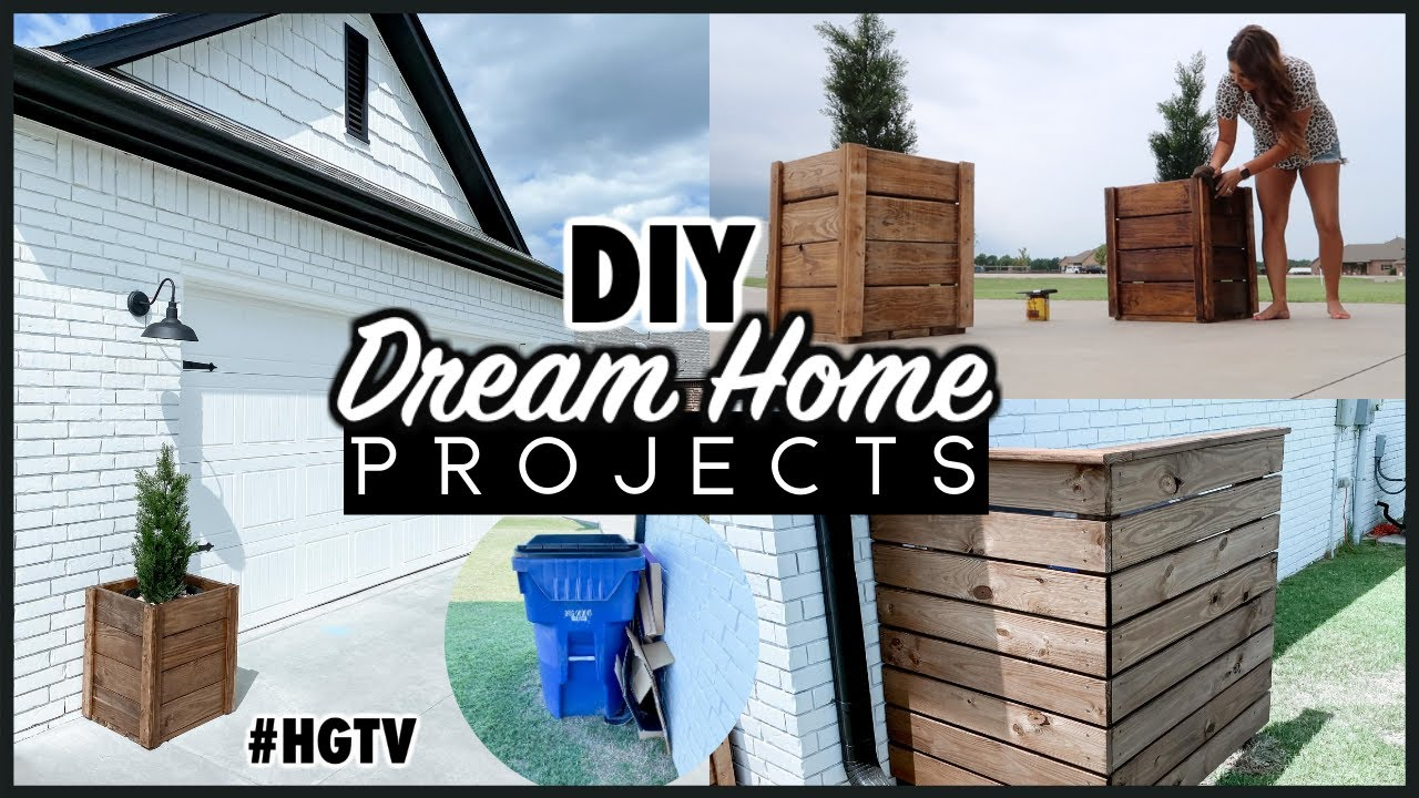 OUTDOOR MAKEOVER ON A BUDGET | DIY MODERN FARMHOUSE UPDATES | DREAM HOME 2020
