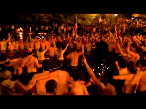Mirror Lake Celebration of Osama Bin Laden death Ohio State
