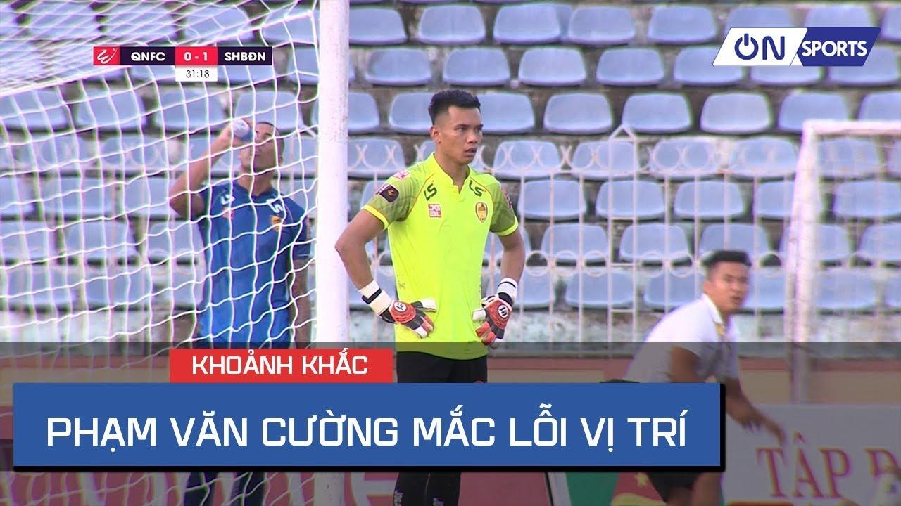 Pha bóng mắc lỗi của Phạm Văn Cường khiến Quảng Nam nhận bàn thua