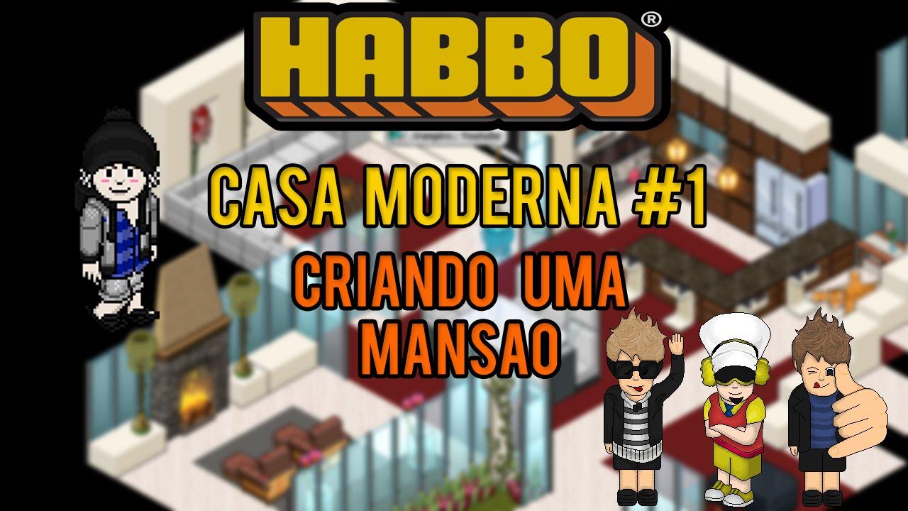Habbo tutorial casa moderna youtube for Casa moderna habbo
