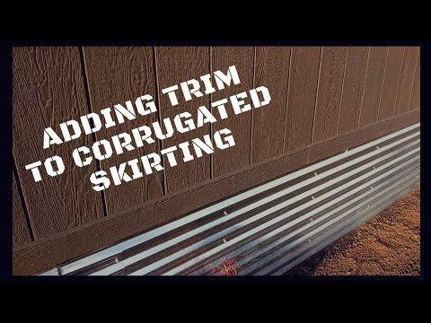 Adding Trim To Corrugated Skirting