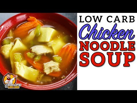 Low Carb CHICKEN NOODLE SOUP - Easy Keto Chicken Noodle Soup - Best Lowcarb Noodles