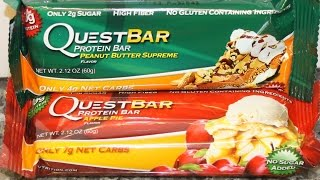 Quest Bar: Peanut Butter Supreme & Apple Pie Review