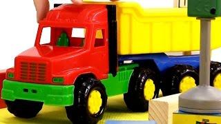 Мультики про машинки и паровозики: Грузовичок и кубики. Развивающие мультики