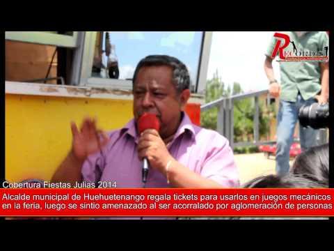 Alcalde municipal de Huehuetenango  fue acorralado por  aglomeración al regalar tickets