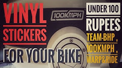 Funky Vinyl Stickers For your Bike