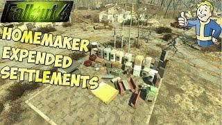 Fallout 4 Обзор мода Homemaker - Expanded Settlements 1.0 1.2 Nexus Mods Новые объекты