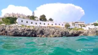 Hotel| pieds dans l'eau|La Roccia| a Castro Marina| dans les pouilles| in Salento|: Scuba Tour