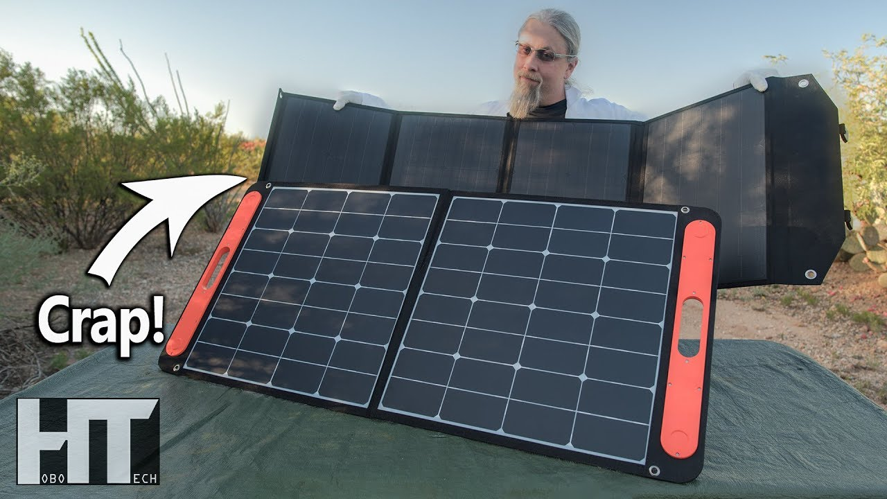 Portable 100 Watt Solar Panel Showdown Rockpals Vs Jackery Review With Shocking Results Youtube