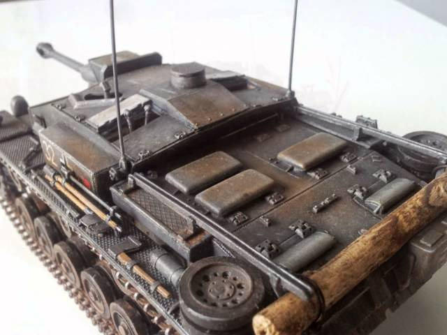 Демонстрация готовой модели Звезда 3549 - Самоходка Штурмгешутц III (StuG III Ausf.F)