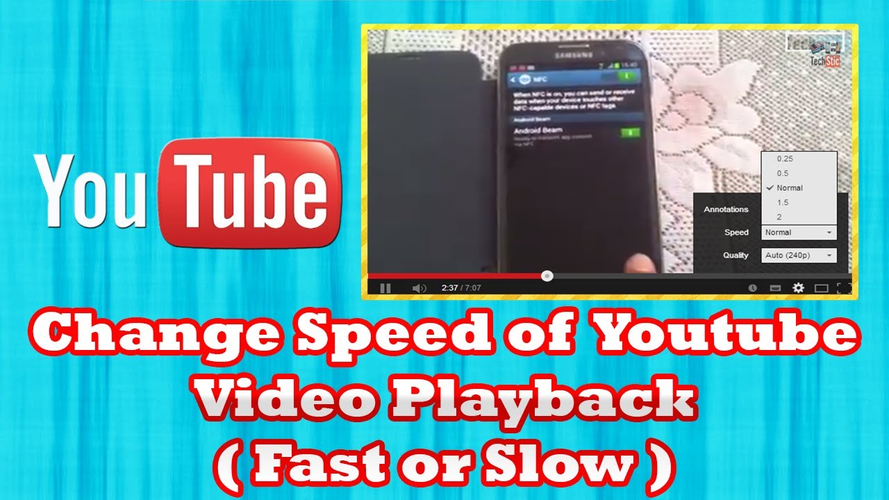 How to Change Speed of Youtube Video Playback ( Fast or ...