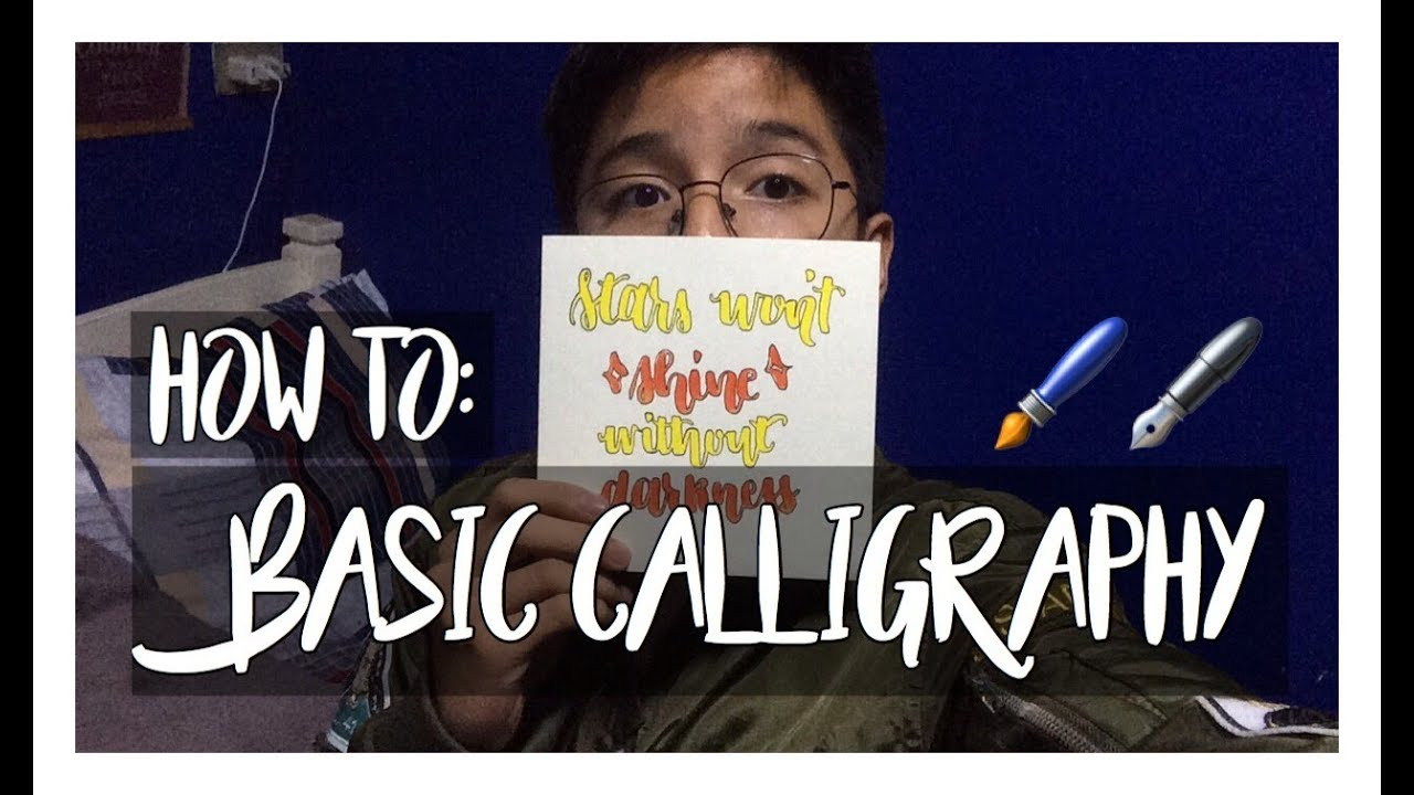 How To: Basic Calligraphy  Neil Patrick
