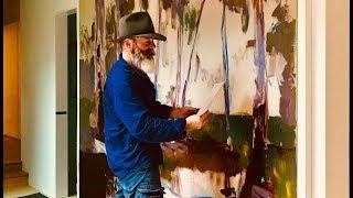 Richard Musgrave-Evans Paints a Large Commission Work!