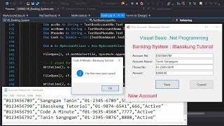 VB.Net 2017 (S. 1) Erstellen Sie eine Banking-System verwenden .CSV-text-Dateien zum speichern von Datensätze