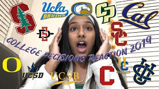 2019 COLLEGE DECISION REACTIONS︱12+ Schools??︱(Stanford, UCLA, USC, Cal, and more)
