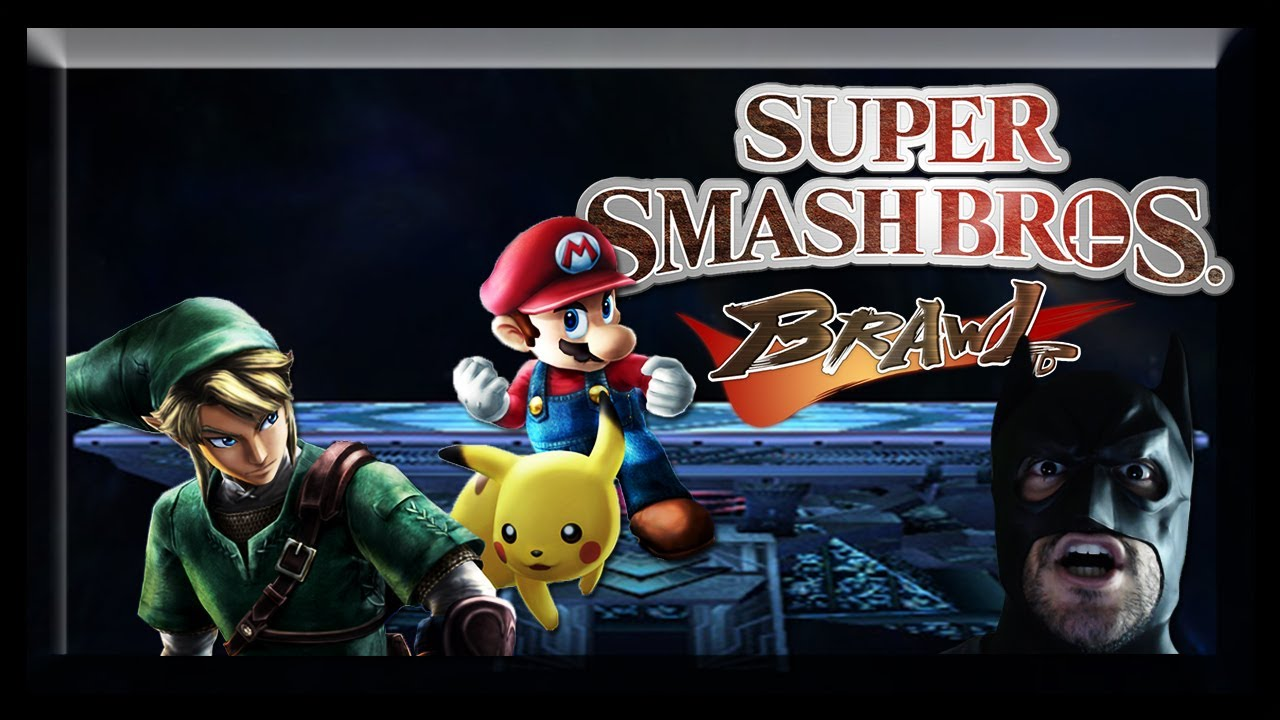 Link Vs Mario Brawl Super Smash Bros. Braw...