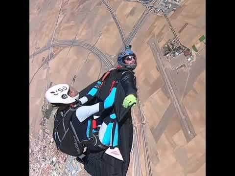 sitting on Wingsuited Man!!!