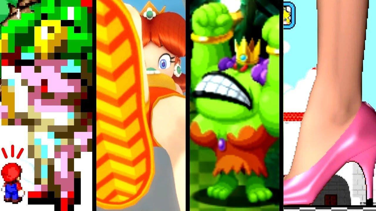 Super Mario Evolution of GIANTESS BATTLES 1996-2018 (Switch to SNES)