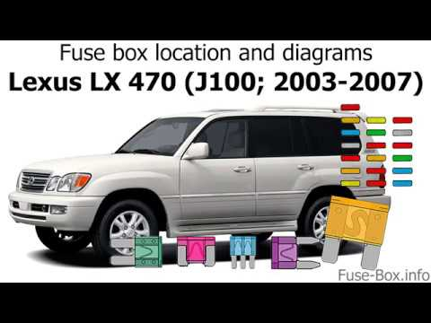 Fuse box location and diagrams: Lexus LX470 (J100; 2003-2007) - YouTubeYouTube
