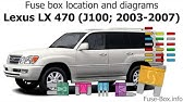 fuse box location and diagrams: lexus lx470 (j100; 1998-2002)  youtube