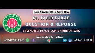 Baixar Questions & Réponses #3 - Dr. Tahir (radio laawolkisal)