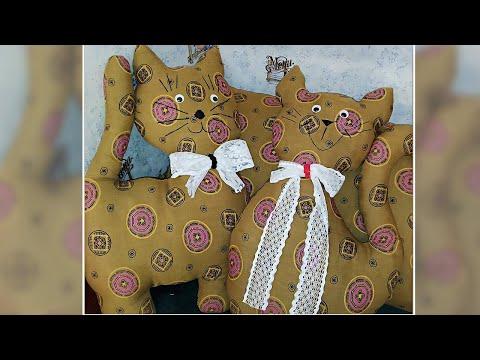 Декоративные коты своими руками