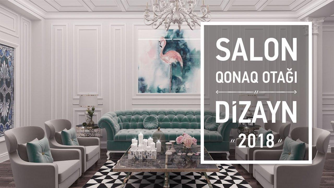 Salon Qonaq Otagi Xoll Dizayni Youtube